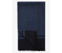 Webschal für Man - Navy-Blau/Grau