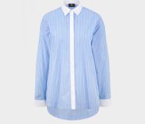 Long-Bluse Mel für Damen - Hellblau