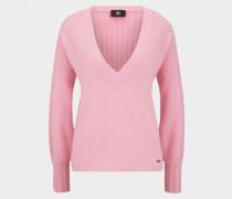Kaschmir-Pullover Isla für Damen - Flamingo-Rosa Pullover