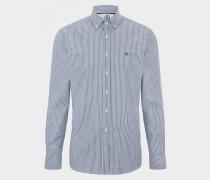 Baumwoll-Hemd Timt für Herren - Navy-Blau/Weiß Hemd