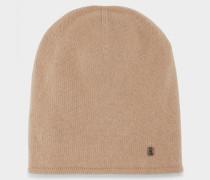 Kaschmir-Mütze Marin für Damen - Camel Kaschmir-mütze