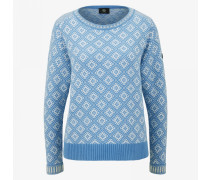 Strickpullover Almara für Damen - Light blue/white
