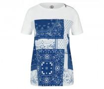 T-Shirt Florence - Azurblau/Weiß