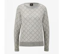 Strickpullover Almara für Damen - Light gray/white