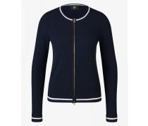 Kaschmir-Strickjacke Irina für Damen - Navy-Blau Kaschmir-Strickjacke