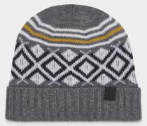 Mütze Norwin für Herren - Grau/Weiß/Schwarz