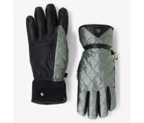 Handschuhe Cora für Woman - Silbergrün/Schwarz