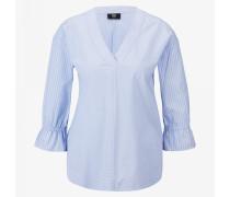 Tunika-Bluse Rebecca für Damen - Blau/Weiß gestreift
