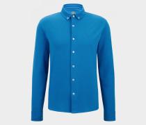 Piqué-Hemd Franz für Herren - Atlantik-Blau Piqué-Hemd