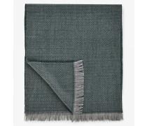 Fischgrät-Schal für Man - Olivgrün/Grau