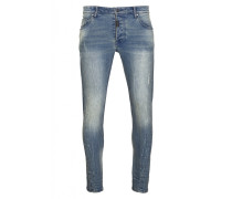 Herren Slim Fit Jeans Billy the kid 9943 stone wash blau (vintage mid blue)