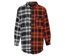 Herren Hemden Linos mixed mehrfarbig (black/orange/white)