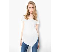 T-Shirt Manja slub weiß