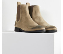 Herren Chelsea Boots Albie grau (cow suede taupe)