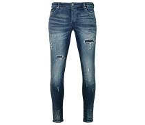 Herren Destroyed Jeans Billy the kid 9869 repaired blau (dark blue)