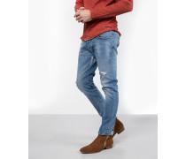 Herren Destroyed Jeans Boe 9840 repaired blau (vintage light blue)