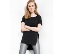 T-Shirt Klara slub schwarz