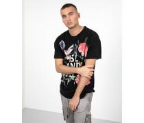Herren Print T-Shirt island MSN schwarz (black)