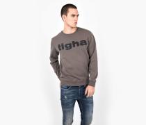 Sweatshirt Logo Sweater taupe