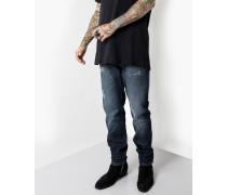 Herren Destroyed Jeans Joem 9406 stone wash blau (dark blue)