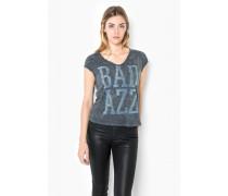 Print Shirt A Bad Tee WSN blau