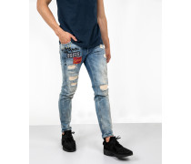 Jeans Billy the kid 9905 scribble blau
