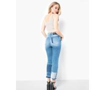 Damen High Waist Jeans Conny blau (mid blue)