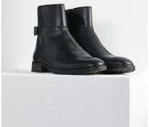 Herren Chelsea Boots Nestor schwarz (goat pull up black - fur lined)