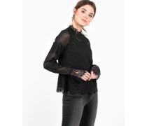 Lange Bluse Kimiko schwarz