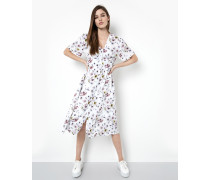 Damen Kleid Jola mehrfarbig (faded flower white)