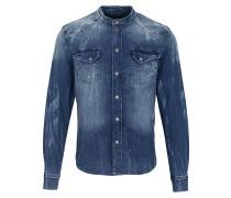 Hemd Freddy 6866 stone wash blau