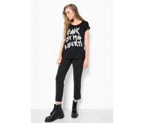 Print Shirt Liberté Punk WSN schwarz