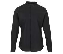 Herren Hemden Ole stretch schwarz (black)