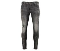 Herren Destroyed Jeans Billy the kid 9370 repaired schwarz (vintage black)