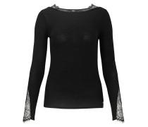 Damen Langarmshirt Darlene schwarz (black)