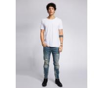 Slim Fit Jeans Morty 9054 stone wash blau