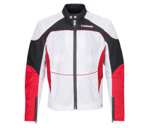 Herren Bomberjacke Shay weiß (white/racing red)