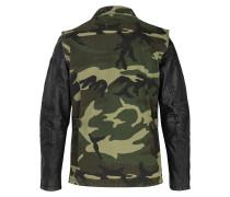 Herren Lederjacke Connor '10 mehrfarbig (vintage black/camouflage)