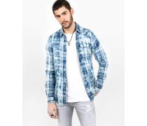 Baumwollhemd Tomke blau