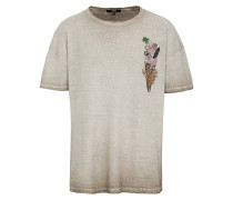 Print T-Shirt ice cream MSN beige
