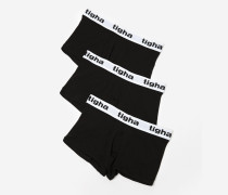 Boxershorts Rocky low rise trunk 3pack schwarz