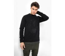 Sweatshirt Dustin schwarz