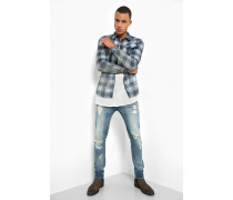 Jeanshemd Ryan Checked blau