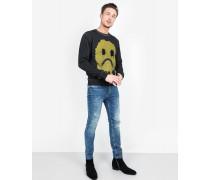 Sweatshirt Smiley Crew schwarz
