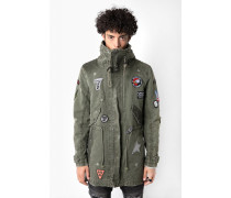 Parka Gabriel patch grün