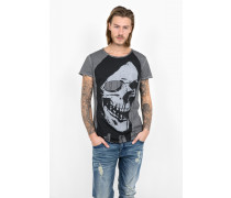 Print T-Shirt Undead Man MSN grau