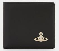 Nappa Wallet With Coin Pocket Black