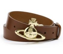 Belt Orb Buckle Belt Brown