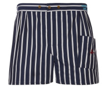 We Boxer Shorts Navy Stripes