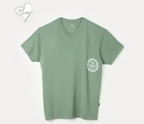New Boxy T-Shirt University Of Peace Green